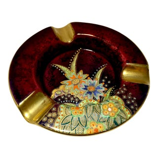 Carlton Ware Rouge Royale Art Deco Starflower Pattern Ashtray