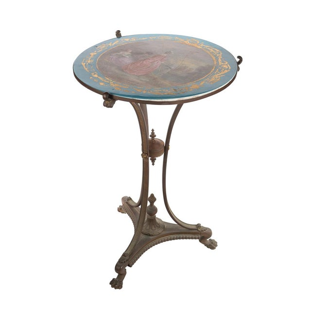 19th C. French Painted Porcelain Sevres Style Side Table - Image 1 of 10