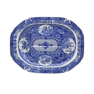 Antique Spode Net Well & Tree Platter
