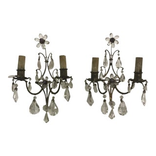 French Crystal Sconces - a Pair
