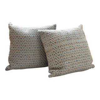 Woven Chevron Pillows - A Pair