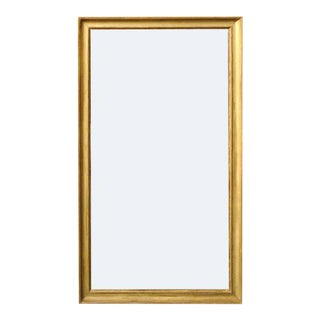 French Giltwood Rectangular Mirror with Split Glass from the Turn of the Century
