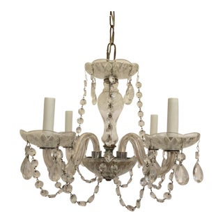 Four Light Crystal Chandelier