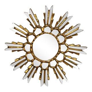 Gold Leaf Sunburst Mirror