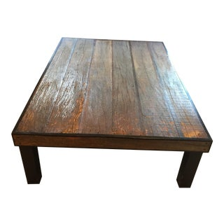 Oversized Reclaimed Barnwood Coffee Table