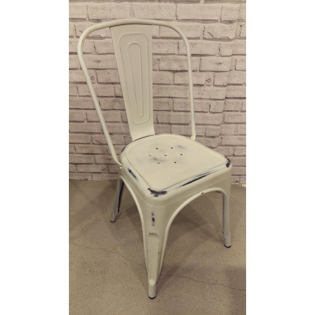 Image of White Industrial Metal Bar Chair