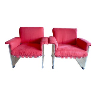 Pace Collection Argenta Lucite Armchairs - A Pair