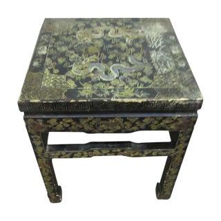 Asian Dragon Motif Side Table