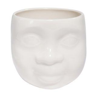 "White Ceramic ""Dreamy Loving"" Face Cup"