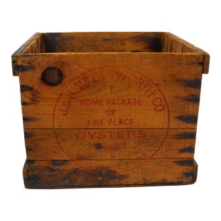 Vintage Wood Commercial Oyster Crate