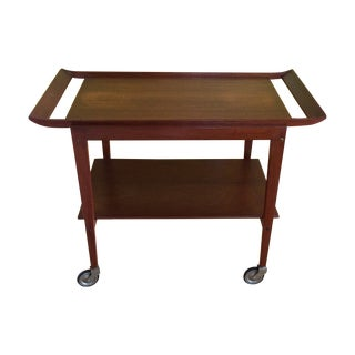 Danish Teak Bar Cart