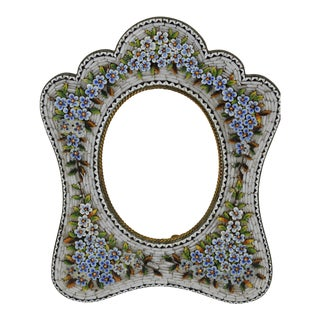 Antique Italian Micro Mosaic Picture Frame