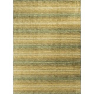 """Modern Hand Knotted Wool Rug - 8'8"""" X 11'10"""""""
