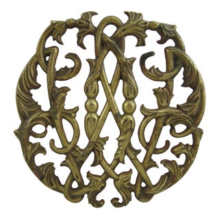 Vintage Brass Scroll Trivet
