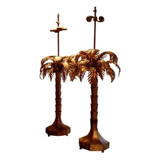 Warren Kessler Palm Tree Lamps - A Pair