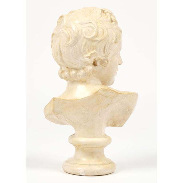 Image of Antique French Plaster Child Bust