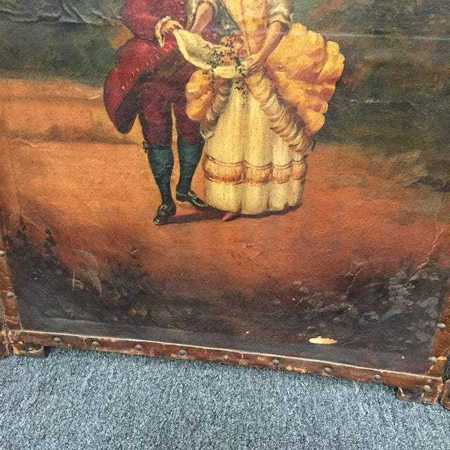 Antique Painted Fireplace Screen - Image 8 of 9