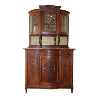 Antique French Hutch Sideboard