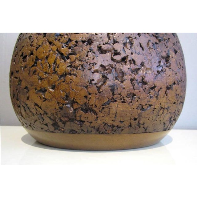 Mid-Century Cork Lamps - A Pair - Image 3 of 7