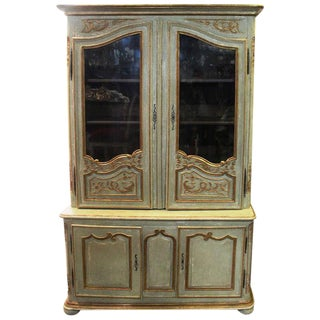 A Painted and Parcel Gilt French Régence Bibliotheque