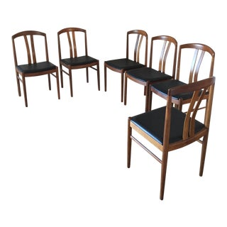 Mid Century Modern Danish-Style Dining Chairs - Set of 6