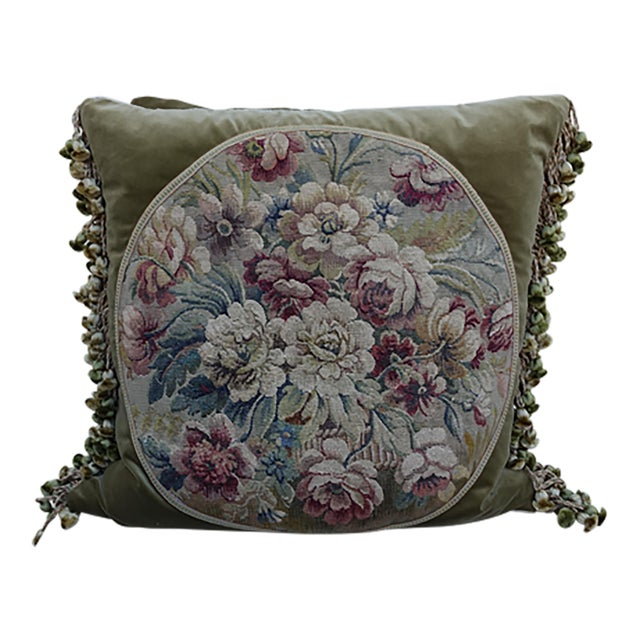 Image of Pair of 19th Century French Aubusson Pillows