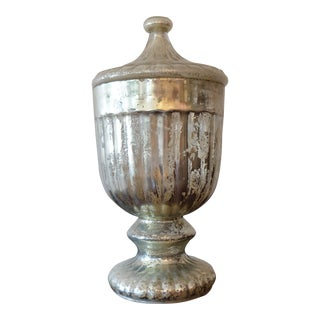 Mercury Glass Reproduction Urn