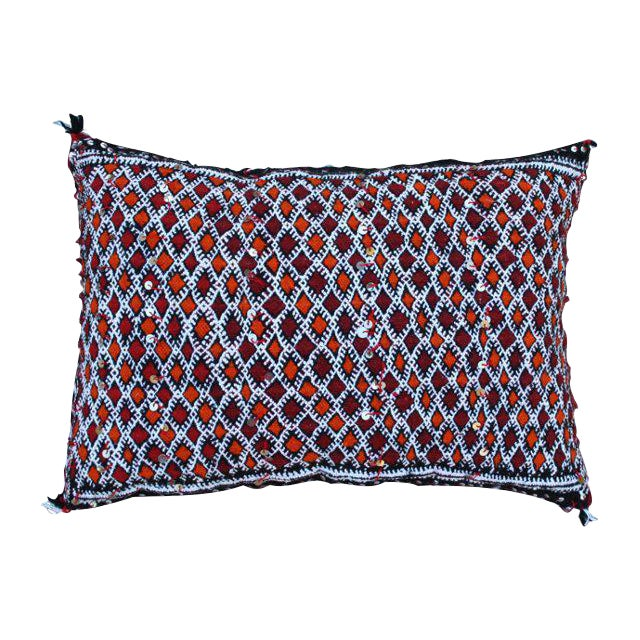 Orange Diamonds Berber Pillow - Image 1 of 2