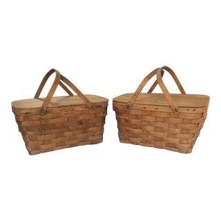 Vintage Picnic Baskets - A Pair