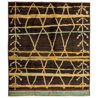 "New Moroccan Hand-Knotted Rug - 8'1"" x 9'7"""