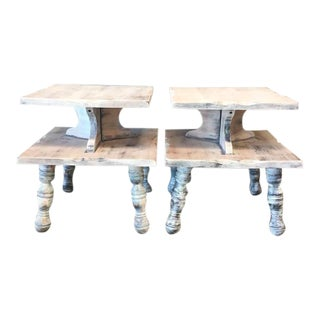 1970's Upcycled Side Tables - A Pair