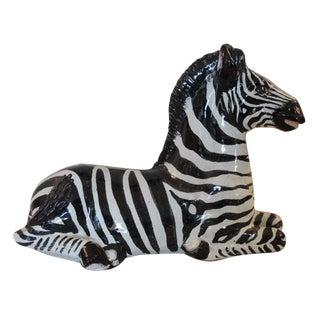 Vintage Mid-Century Modern Ceramic Zebra