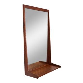 Danish Modern Teak Shelf Mirror Hansen