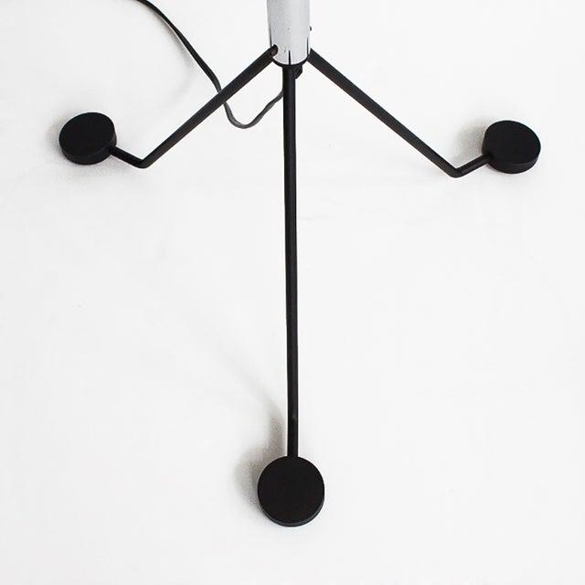 Veart italian chrome glass tripod floor lamp chairish for Eden 3 light tripod floor lamp chrome