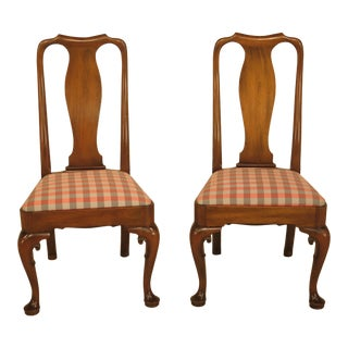 Kittinger Colonial Williamsburg Mahogany Side Chairs - A Pair