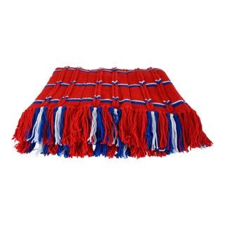 Vintage Red, White, & Blue Throw