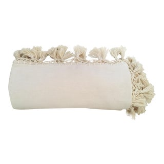 Oaxaca Oversize Cotton Cream Throw / Coverlet