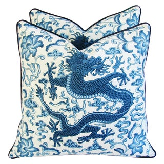 Scalamandre Chi'En Dragon Pillows - A Pair