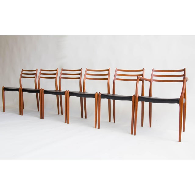 Niels Møller #78 Dining Chairs - Set of 6 - Image 3 of 11