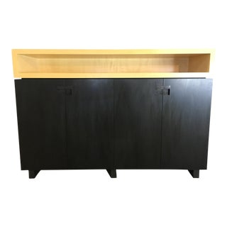 Modern Walnut and Sycamore Credenza
