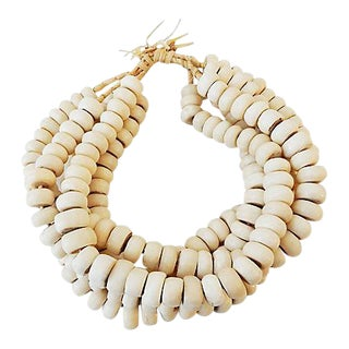 Jumbo Currency Bone Trade Beads S/5