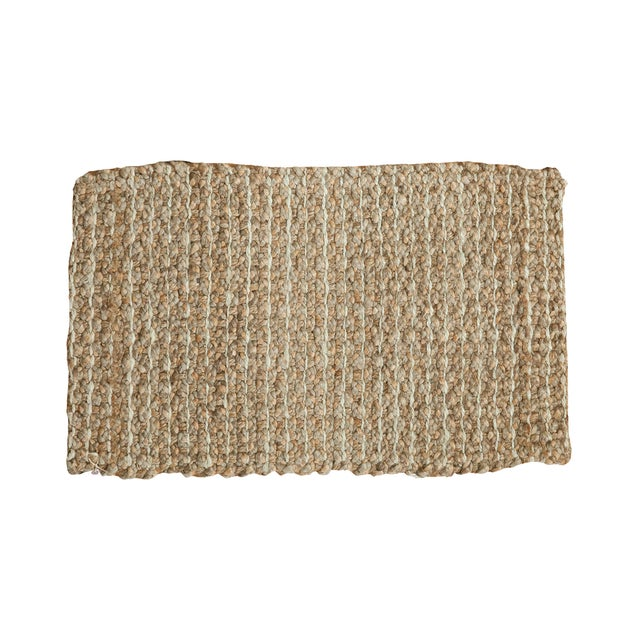 Image of Hand Braided Beige Entrance Mat - 2' X 3'2""