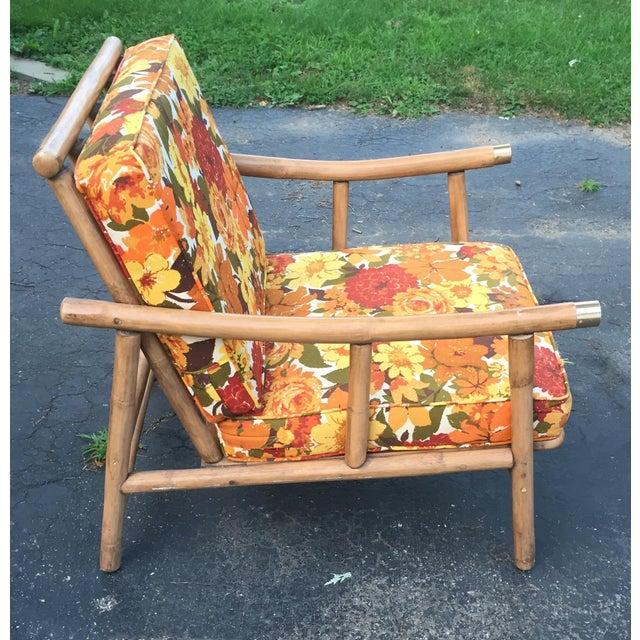 John Wisner for Ficks Reed Rattan Chair - Image 3 of 5
