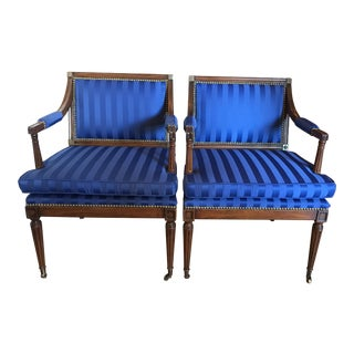 Baker Sheraton Regency Style Chairs - A Pair