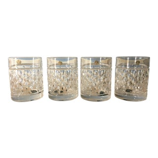 Ralph Lauren Aston Crystal Old Fashioned Glasses - Set of 4