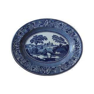 Blue & White English Tin Plate