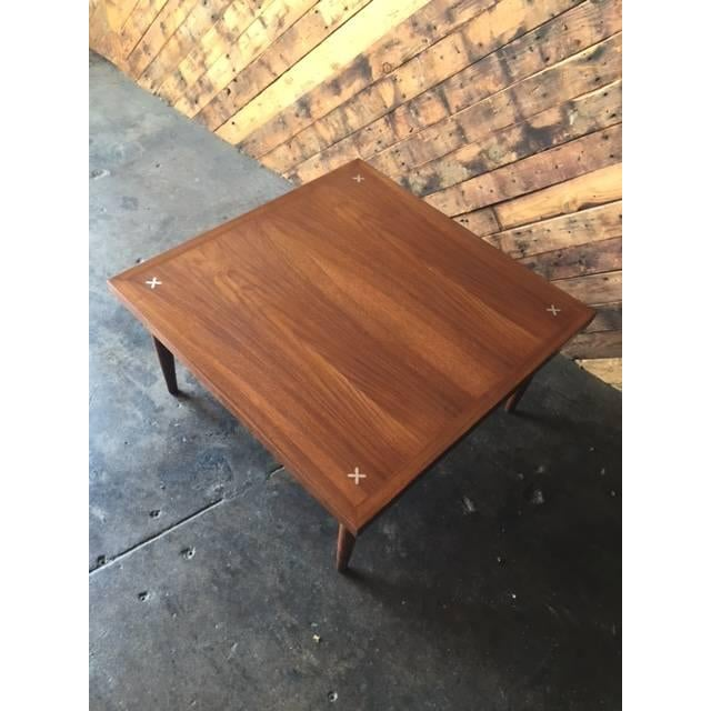 American of Martinsville Walnut Inlay Coffee Table - Image 6 of 7