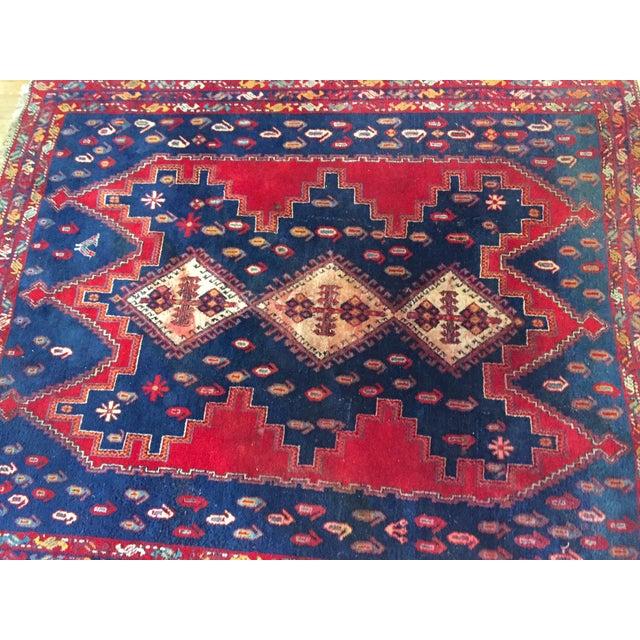 Vintage Ornate Kazak Persian Rug - 5' x 6' - Image 7 of 10