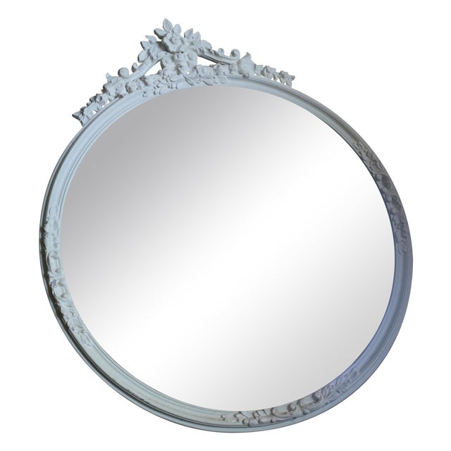 Shabby Chic Circle Mirror - Image 1 of 7