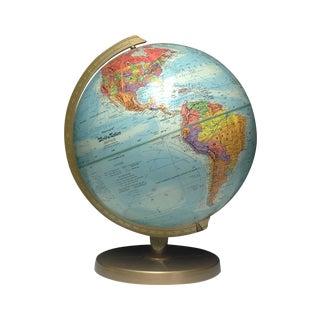 Vintage Globe & Brass Stand